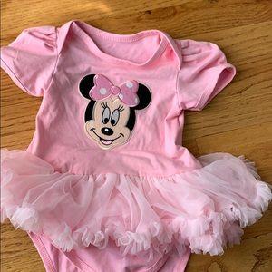 Minnie Mouse tutu onesie